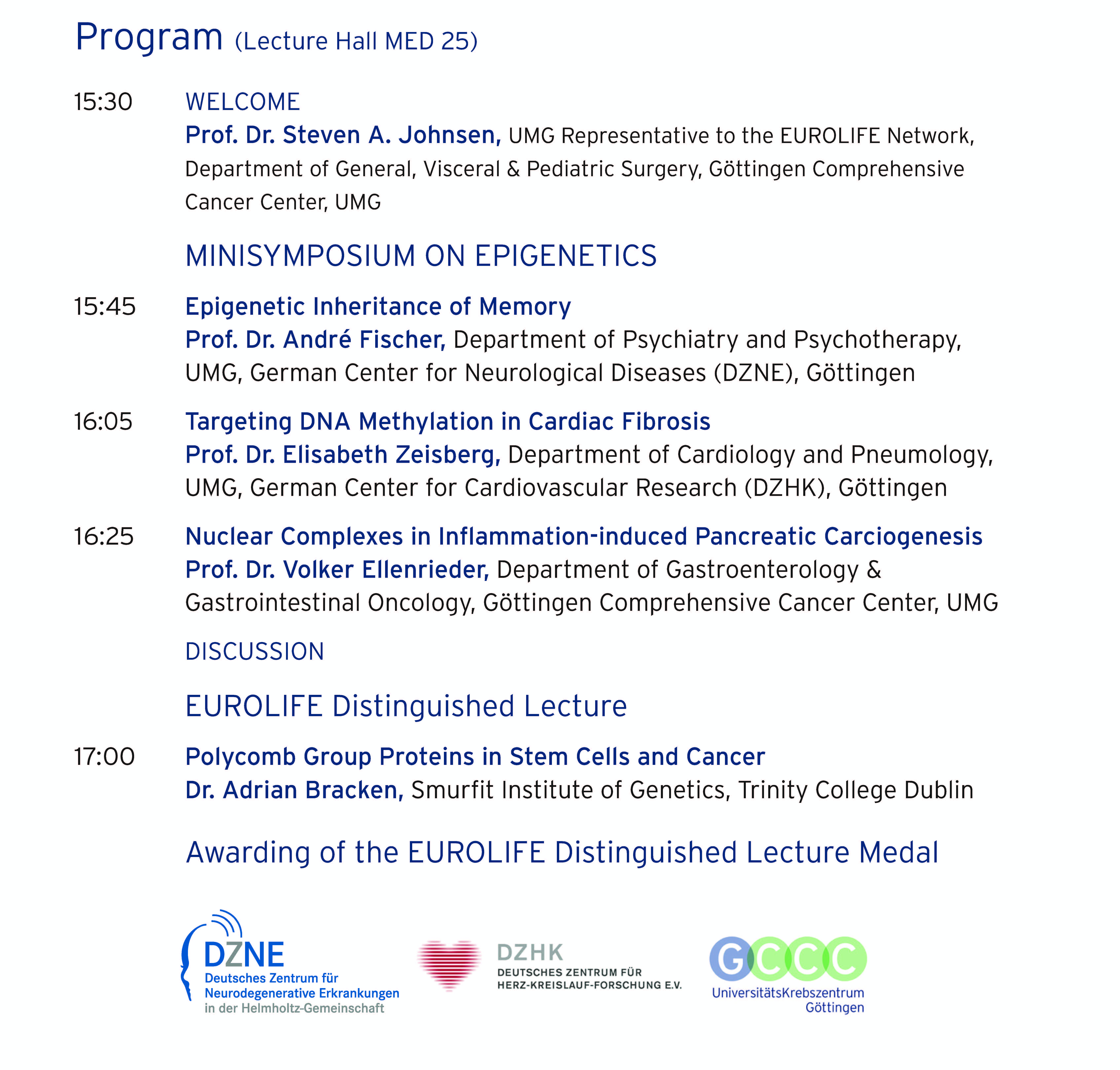 Program minisymposium Nov 2016